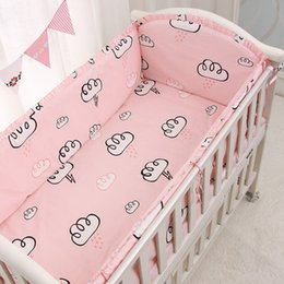 baby crib decorations NZ - 6 9pcs pink baby bedding crib bumper protector nordic infant bed bumper newborn decoration 120*60 120*70cm