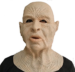 $enCountryForm.capitalKeyWord UK - Hot Sale High Quality Celebrity male Face Old men latex Fancy Dress Costume rubber realistic old man mask
