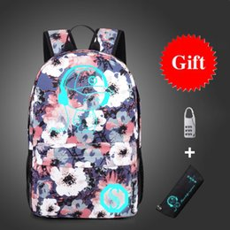 Bags Schools NZ - Anti-thief Bags Nightlight Children School Backpack Wich Pencil Case Anime Luminous School Bags For Boy Girl Student Schoolbag Y19051701
