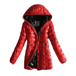 black clothing for cheap NZ - Women Winter Down Jackets Hoody Brand Designer Warm Clothing for Ladies Jacket Outdoor Snow Coats Cheap