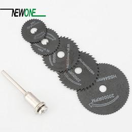 $enCountryForm.capitalKeyWord NZ - 5Pcs HSS Saw Blades For Metal Dremel Rotary Tool Cutting Discs Wheel + 1 Mandrel For Proxxon Dremel Rotary Tools
