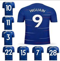 968ac0a78d6 Thai soccer jersey online shopping - Thai Quality Home Blue MARCOS A Soccer  Jerseys new Hazard