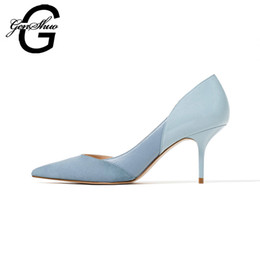Discount small high wedges - wholesale Mixed Color Classic Women High Heels Shoes 7cm Female Simple Women Pumps Heels Dress Shoes Small Size