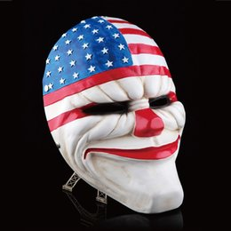 $enCountryForm.capitalKeyWord Australia - Payday 2 Mask Resin The Heist Dallas wolf chains hoxton Cosplay Halloween Horror Clown Masquerade Cosplay Carnaval Costume Men J190710