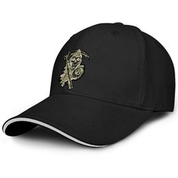 Camouflage Cotton Australia - Casual Men Women visor cap Sons of Anarchy symbol Camouflage custom fitted baseball hats Messy hats All Cotton