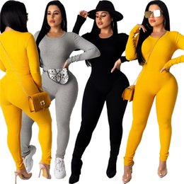 clad crew hoodie Canada - Women Tracksuit 2 Piece Set Hoodies+Pants Crew Neck Sports Suit Solid Color Outfits Shirt+Leggings Fall Winter Fashion Clothing 2413