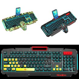 $enCountryForm.capitalKeyWord Australia - New Arrival Wired Mechanical Gaming Keyboard Mouse Set Optional Luminous Metal Key Ergonomical Computer Supplies