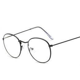 Опт Металлические винтажные круглые очки с оправой Регулируемая кайма тонкие красочные типы Круглые линзы близорукие очки студенты хорошие подарки LJJQ193