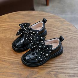 $enCountryForm.capitalKeyWord Australia - Toddler Infant Kids Baby Girls Pearl Fashion Sequins Single Princess Shoes fashion dress black school shoes for girls zapatos