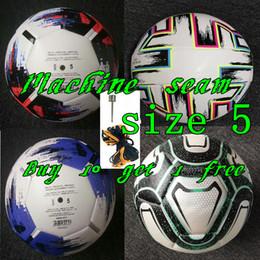 Footballs ball online shopping - Best quality European Cup Soccer ball Machine seam size balls granules slip resistant football high quality ball