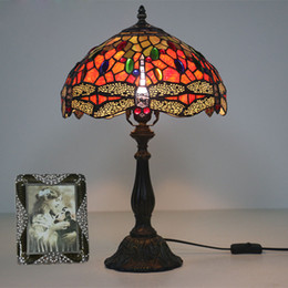 $enCountryForm.capitalKeyWord NZ - Nordic Bar Art Deco Dragonfly Table Lamp Cake Shop Mosaic Rustic Stained Glass Bedside Desk Light European Retro Decoration Table Light