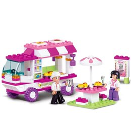 $enCountryForm.capitalKeyWord Australia - Girl Friends Snack Car Delivery Car Compatibie Legoings Building Blocks Toy Kit DIY Educational Children Christmas Gifts