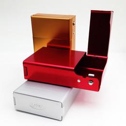 $enCountryForm.capitalKeyWord Australia - Side and Bottom Open Aluminum Cigarette Case 20pcs Cigarettes Packing Box Tobacco Holder for Men WB355