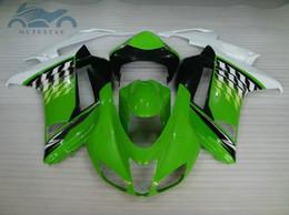 $enCountryForm.capitalKeyWord Australia - Free customize Fairing kit for Kawasaki Ninja ZX6R 2007 2008 green white black fairings set ZX6R 07 08 DD36