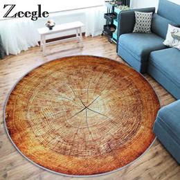 Discount wood office chairs Zeegle Office Chair Floor Mat Children Bedroom Rugs Yoga Mats Doormat Wood Printed Round Carpets For Living Room Kids Ro