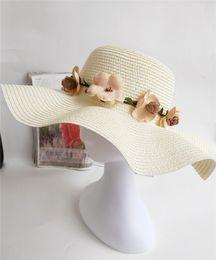 Black Blocks Australia - 2019 new women's summer straw hat Korean version of the wavy beach getaway holiday garland sun block hat