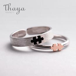 Puzzle Rose NZ - Thaya Rose Gold 3d Puzzle Rings Bijoux En Argent 925 Engagement Finger Ring For Women Gift Handmade Jewelry Bijoux Femme J 190430