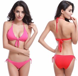 $enCountryForm.capitalKeyWord UK - 2019 Hot Sale Swimsuit Bowknotted Removable Padding Beachwear Strappy Swimwear Victoria Style Cheap Bikinis Women