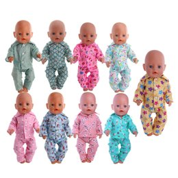 $enCountryForm.capitalKeyWord Australia - Doll Clothes Cute Pajamas Nightgowns Fit 18 Inch American Doll & 43 Cm Baby For Our Generation Girl`s Toy Accessories