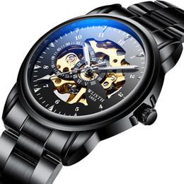 $enCountryForm.capitalKeyWord Australia - Men Mechanical Watch Leather Band Stainless Skeleton Mechanical Wrist Watch