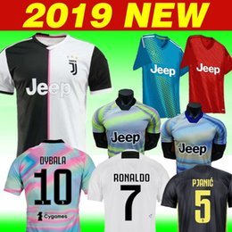 Woman jersey yelloW online shopping - Thai NEW RONALDO JUVENTUS Soccer Jersey JUVE Home Away DYBALA Camisetas Futbol Camisas Maillot Football Shirt EA women kids