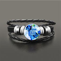 $enCountryForm.capitalKeyWord Australia - JW.ORG Flower Bracelet Vintage Braided Multilayer Beads Bracelets For Men Women Jehovah's Witness Faith Jewelry Accessories