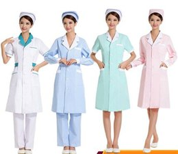 $enCountryForm.capitalKeyWord NZ - Autumn and winter style pharmacy intern doctor white gown beauty salon work clothes long sleeve female nurse clothes