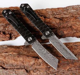 Chinese  EDC Damascus blade outdoor climbing pocket knife portable folding knife camping self-defense mini mens gift microtech tool Hunting Knives manufacturers