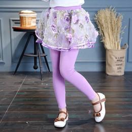 pencil cake 2019 - Girl Legging Skirt-pants Flowers Cake Skirt Baby Girl Spring Autumn Leggings Children's Girls Skirt Pant Bootcut Fo