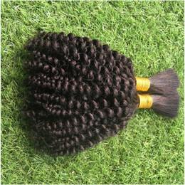 Vente en gros Cheveux bouclés en vrac crépus malaisien pour le tressage 100% de cheveux humains tissent 10-30 pouces pour le tressage en vrac aucune
