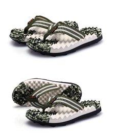 EVA Caucho Cómodo antideslizante sandalia de verano Camuflaje de masaje para hombres Zapatillas Pantalón de chanclas Chancletas de playa Zapatilla informal