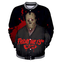 Designs Games UK - New Friday The 13th The Game 3D Design V-Neck Hoodies Men Women Unisex Sweatshirts Baseball Clothing Fleece Streetwear Clothes