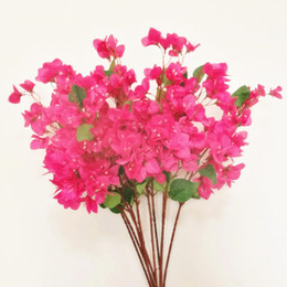 Flowers For wreaths online shopping - Silk Bougainvillea Artificial Floor Mounted Fake bougainvillea for Wedding Centerpiece Decorative Flowers Decorate flowers and wreath EEA320