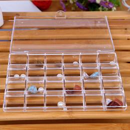 24 Display Case NZ - 24 Grid Acrylic Makeup Organizer Display Stand Sundries Storage Box Case Sundry Jewelry Storage Tools Manicure Jewelry
