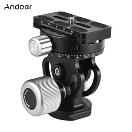 panoramic tripod heads 2020 - tripod panoramic Andoer VH-10 2 Way Tripod Panoramic Bird Watching Photography Head with Quick Release Plate for Sirui L