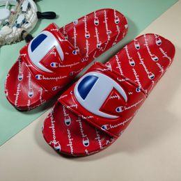 $enCountryForm.capitalKeyWord Australia - 2018 Womens Champions Letter Sandal Men Summer Slipper Slip on Flip Flops Wedge Platform Sandals Beach Water Rain Mules Shoes 35-44