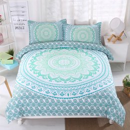 Wholesale Home Textile Bedding Set with Sky blue Beauty Bohemian Style Romantic Duvet Cover Set for Women Wife Girl Bedding Supplies