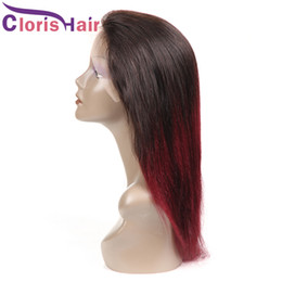 Glueless Wig Braids For Australia - Full Density 1B 99J Ombre Wigs Human Hair Lace Front Wig For Black Women Colored Burgundy Long Braided Wig Malaysian Straight Glueless Wig