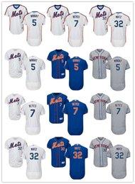 8fcd65c62 custom Men women youth Majestic New York Mets Jersey #5 David Wright 7 Jose  Reyes 32 Steven Matz Blue Grey White Baseball Jerseys