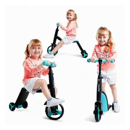 $enCountryForm.capitalKeyWord NZ - Children Scooter Balancer Tricycle 3 In 1 Baby Scooter Balance Car 3 Wheels Bicycle Walker Car Balance Bike Ride on Toys 2-6 Y