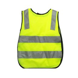 outdoor camping vests UK - Outdoor Hiking Protective Road Reflective Warning Traffic Camping High Visibility Clothing Kids Safety Vest