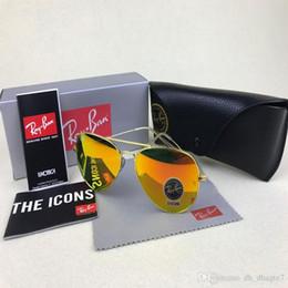 Ray Bans Glasses Australia - Brand Designer RayS Aviator Vintage Pilot Men Women 58mm 62mm Bans UV400 mirror Band Mirror Glass BEN Sunglasses with cases of 16 colors