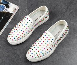 $enCountryForm.capitalKeyWord NZ - Hot Sale-High quality Fashion Men colorful rivet flat Shoes man Causal loafers Luxury Hip hop Shoes for Male
