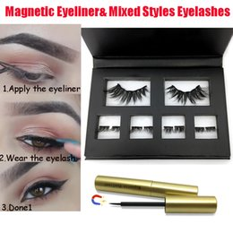 $enCountryForm.capitalKeyWord Australia - Magnetic liquid Eyeliner With 2 Pairs Mixed False Eyelashes Waterproof Long Lasting Easy to wear No Glue Needed Eye Makeup Tools