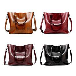 Big Ladies Handbags NZ - Autumn Winter Women Female Big Capacity Handbag Pu Leather Solid Color Bag Travel Ladies Girls Casual Shoulder good quality Women Bag