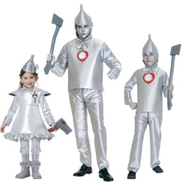 Female Costumes For Men Australia - Anime Halloween Costume Performance Clothing Tin Man Iron Man Suit The Wizard of Oz Role Cloth for Adult and Child