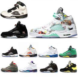 Fresh Fishing online shopping - US7 s Mens Basketball Shoes Wings Fresh Prince PSG Black White Camo Grey Laney Oreo Designer Shoe Sports Men Trainers Sneakers