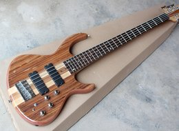 Discount customize guitar - 5 Strings Natural Wood Color Electric Bass Guitar with Ash Body and Maple Neck,Chrome Hardware,Offer Customized