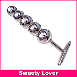 $enCountryForm.capitalKeyWord Australia - Large Metal Butt Plug Super Big Size Stainless Steel Anal Dildo Plug Massager Sex Toys With Beads Women men gay Sex Products SH190802