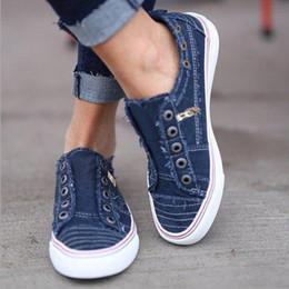 Discount ladies purple canvas shoes - Canvas flats shoes women spring slip on comfortable loafers ladies fashion platform female footwear plus size zapatos de